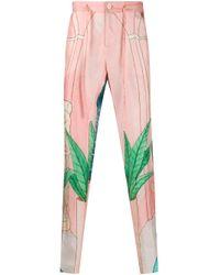 メンズ CASABLANCA Chambre ストレートパンツ Pink