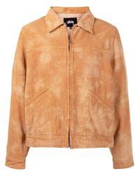 Stussy Brown Washed-effect Jacket for men
