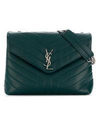 Saint Laurent - Green Medium Loulou Chain Bag - Lyst