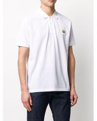 PS by Paul Smith White Logo Print Polo Shirt for men