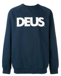 メンズ Deus Ex Machina ロゴ スウェットシャツ Blue
