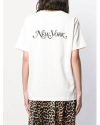 Marc Jacobs White T-Shirt mit Logo-Stickerei