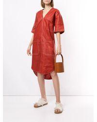Vestito modello T-shirt Phoebe di Lee Mathews in Red