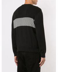 メンズ Supreme チェックパネル スウェットシャツ Black