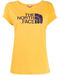 T-shirt à logo imprimé The North Face en coloris Yellow