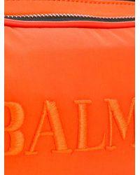 メンズ Balmain ロゴ ベルトバッグ Orange