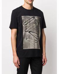 Camiseta con estampado de imperdibles Paul Smith de hombre de color Black