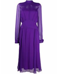 N°21 タイネック シルクドレス Purple