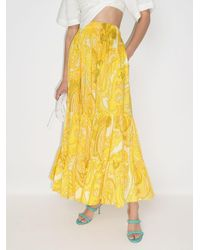 Etro ハイウエスト スカート Yellow