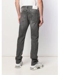 Calvin Klein Gray Straight Leg Jeans for men