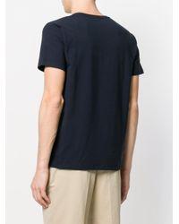 Jil Sander Blue V-neck T-shirt for men