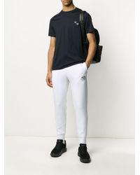 メンズ Emporio Armani ロゴ Tシャツ Blue