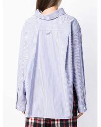 Balenciaga スウィングカラー シャツ Blue