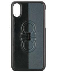 メンズ Ferragamo ガンチーニ Iphone X ケース Black