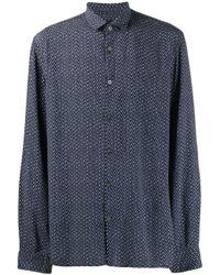 Chemise à imprimé abstrait John Varvatos pour homme en coloris Blue