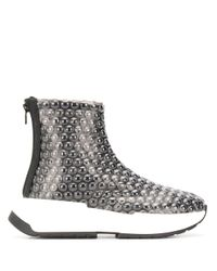 MM6 by Maison Martin Margiela Black High-Top-Sneakers mit Print
