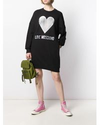 Felpa con stampa di Love Moschino in Black