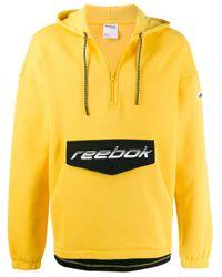 メンズ Reebok ロゴ スウェットシャツ Yellow