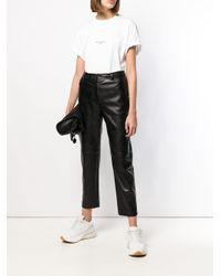 Pantalon crop Stella McCartney en coloris Black
