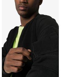 Veste bomber zippée Stone Island Shadow Project pour homme en coloris Black