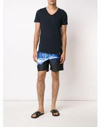 メンズ Orlebar Brown Vネック Tシャツ Blue