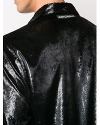 メンズ Just Cavalli メタリック シャツ Black