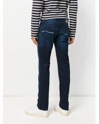 Jacob Cohen Blue Washed Jeans for men