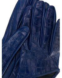 Manokhi クロコエンボス グローブ Blue