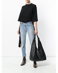 Donna Karan Black Hobo Tote Bag