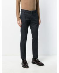 Entre Amis Blue Woven Tailored Trousers for men