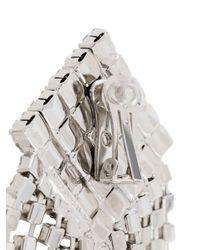 Alessandra Rich Metallic Ohrringe mit Kristallen