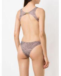 Crisscross Straps Swimsuit Amir Slama, цвет: Multicolor