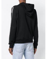 Off-White c/o Virgil Abloh Zipped Stripe Hoodie in het Black voor heren