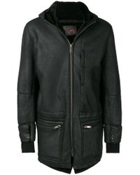 Sylvie Schimmel Black Shearling Hooded Jacket for men