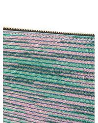 M Missoni - Multicolor Striped Clutch Bag - Lyst