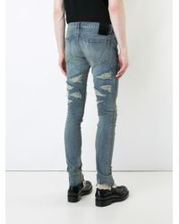 Fagassent Blue Kagero Super Skinny Jeans for men