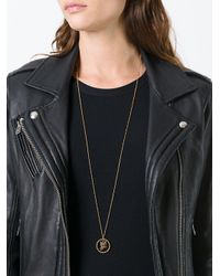 Marc Jacobs Metallic Owl Charm Necklace