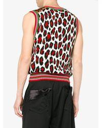 Comme des Garçons - Multicolor Wool Animal Print Knitted Vest for Men - Lyst