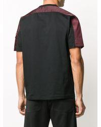 メンズ Prada バイカラー Tシャツ Black