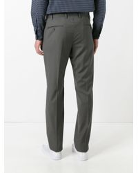 Armani - Gray Tailored Trousers for Men - Lyst