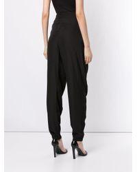 Pantalon fuselé classique Lanvin en coloris Black