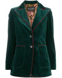 Blazer en velours côtelé Etro en coloris Green