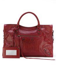 Balenciaga - Red Classic City Tote Bag - Lyst