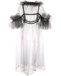 Vestito svasato con ruches di Noir Jewelry in Multicolor