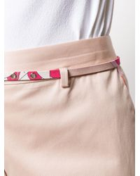 Emilio Pucci ベルテッド ショートパンツ Pink