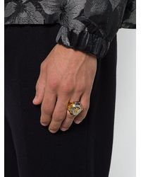 Versace 'Medusa' Ring in Metallic für Herren
