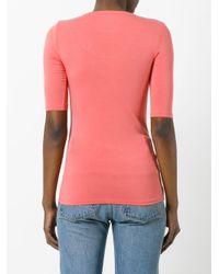 Majestic Filatures Pink Scoop Neck T-shirt