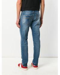 Versace Blue Slim Fit Jeans for men