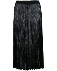 Mrz - Black Long Pleated Skirt - Lyst