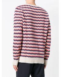 メンズ A.P.C. シェブロン セーター Multicolor